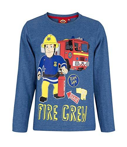 Brandweerman Sam shirt met lange mouwen blauw