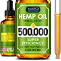 Hemp Seed Oil Drops 500,000 - Premium Colorado Seed Extract - Natural Omega 3, 6, 9 Source - Grown and Made in USA - Pain and Inflammation Relief, Reduces Stress and Anxiety, Provides Restful Sleep