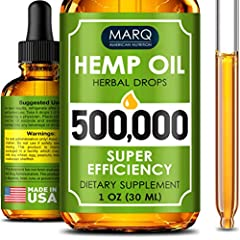 Hemp Oil - At Marq Nutrition we worked hard & formulated the most efficient formula that will exceed all your expectations in terms of quality & efficacy! The lowest price per mg. With Marq Nutrition 500 000 mg bring your health back on track and sta...
