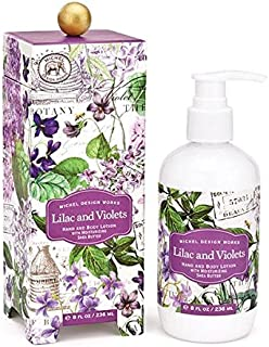 Michel Design Works Scented Hand & Body Lotion with Shea Butter, Lilac & Violets