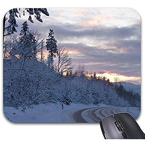 Smity Mausunterlage 30 * 25 * 0,3 cm Mauspad Fashion Designed Mousepads Winter Wonderland Road Mauspad