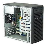 Supermicro - CSE-731I-300B(3YR) - Case CSE-731I-300B(3YR) Mid Tower 300W 9cm PWM Cooling Fan Black microATX Retail