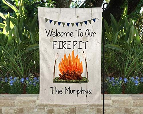 House Flag - Fire Pit Yard Flag Personalized, Campfire Flag