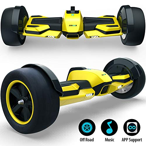 Gyroor G-F1 Hoverboard,8.5' Off Road Hover Board with Bluetooth Speaker&LED Lights,Fastest Racing Self Balancing Scooter with App for Kids and Adult,UL2272 Certified