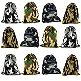 Tytroy Camouflage Drawstring Party Favor Tote Pouch Bags Activities Bag (12 pc)