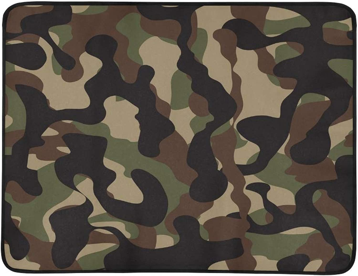 Camouflage Military Portable and Foldable Blanket Mat 60x78 Inch Handy Mat for Camping Picnic Beach Indoor Outdoor Travel