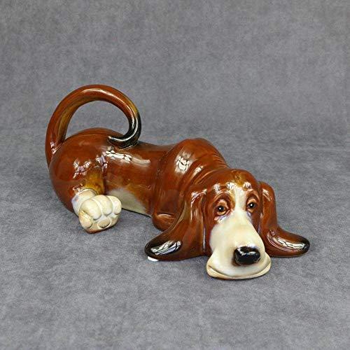 zzzddd Skulptur,Porzellan Hund Statue, Handgefertigte Keramik Hush Puppy Skulptur, Hund Haustier Dekoration, Handwerk Schmuck Geschenk Und Dekoration