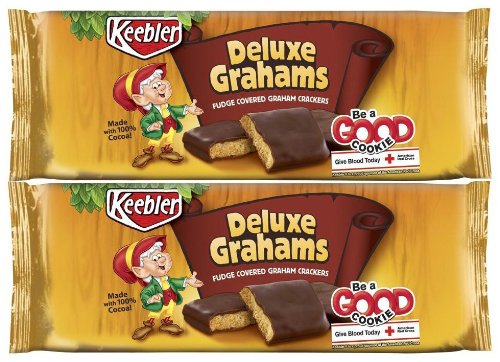 Keebler Cookies-Fudge Covered Deluxe Grahams-12.5 Oz-2 Free shipping All stores are sold on posting reviews Pack