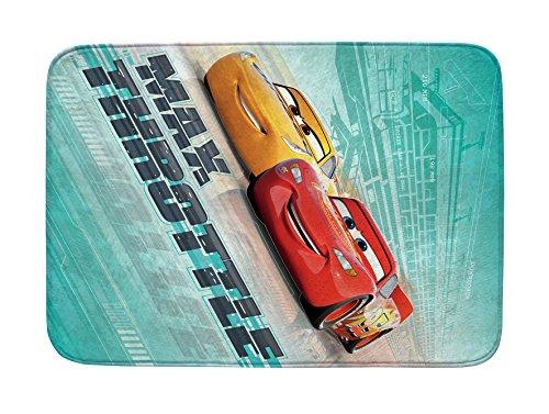 Achoka 08Alfombra Disney Cars Hilado a Mano, poliéster, Multicolor, 70x 95x 0,76cm