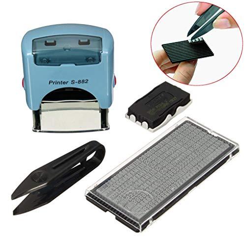 Yongse gepersonaliseerde zakelijke naam adres DIY zelf inkeping rubber stempel kit pak