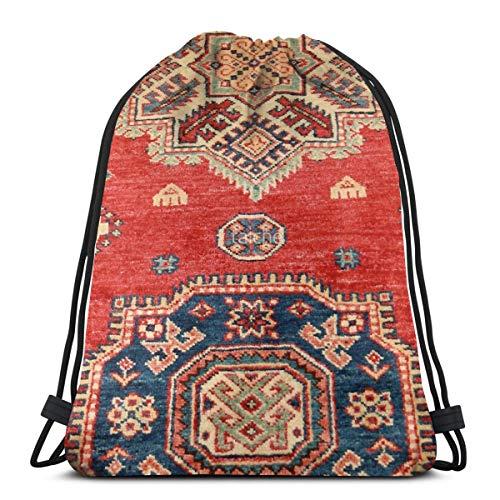 Meius Natural teñido hecho a mano Anatolian alfombra cordón mochila loco viajes...