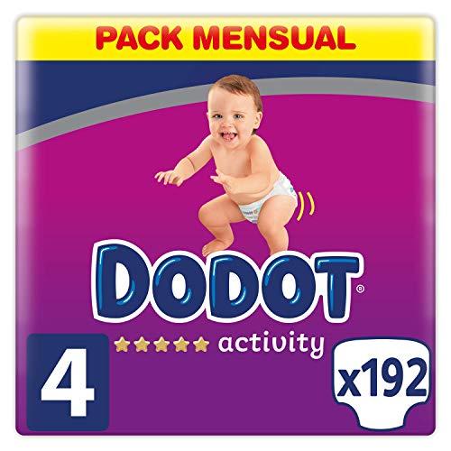 Dodot Activity - Pañales talla 4, 9-14 kg, pañales con