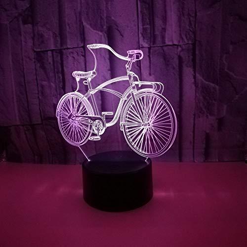 Múltiples colores Bicicleta creativa 3d lámpara de mesa pequeña led multicolor control remoto táctil luz 3d acrílico luz visual nocturna