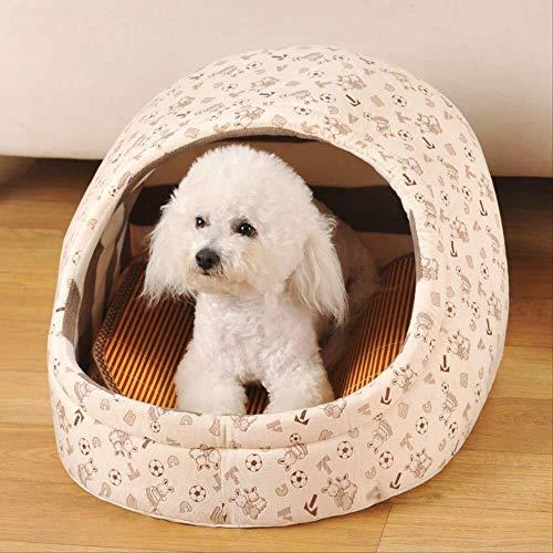 DKEE Cama de Perro Mascota Cottagetoys Nestsize: 25 * 38 * 34 * 28Cm Lounger Perrera pequeña Perros y Gatos Cama de la casa Lavable for Mascotas pequeñas Cueva
