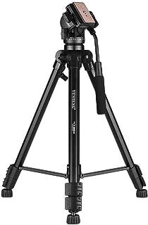 YUNTENG VCT-880 Portable Aluminum Alloy Tripod 3-Section Telescoping Tripod with 2-Way Damping Ball Head for Canon Nikon S...