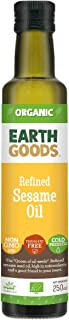 Earth Goods Organic Refined Sesame Seed Oil 100% Natural; Transfat Free; Cold Pressed; 250ml