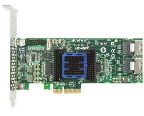 Adaptec RAID 6405E ROC Controller 6Gb/s SAS 2.0 PCIe 4port intern JBOD 0 1 10 1E mit mSAS-Kabel Kit