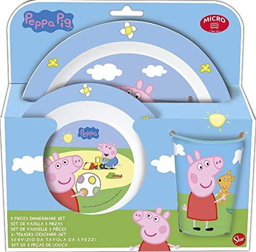 Peppa Pig 13945 - Juego de vajilla set