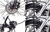 CHRISSON 20 Zoll E-Bike Klapprad EF2 Weiss matt - E-Faltrad mit Bafang Nabenmotor 250W, 36V, 30 Nm, Pedelec Faltrad für Damen und Herren, praktisches Elektro Klapprad - 9