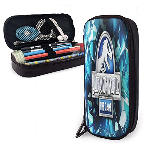 Jurassic Park - Estuche para lápices, estilo breve, de belleza, de viaje, bolsa de maquillaje, multifunción, bolsa de lápices, papelería para la escuela y oficina