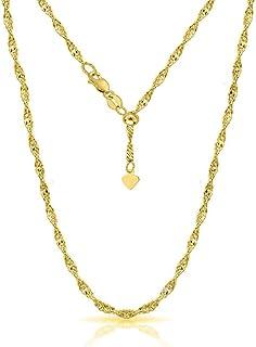 ARGENTO REALE Collar ajustable de plata de ley 925 SIngapore | Collar bolo de plata de ley de 1,5 mm | Collar deslizante |...