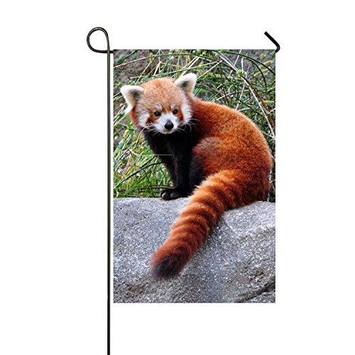 MERCHA Face Famille Drapeau Rouge Panda Adaptations Patterns Polyester extérieur Drapeau Home Party – Jardin Drapeau