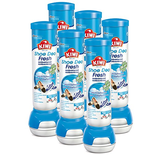 KIWI - Fresh Force - Desodorante para zapatos, aroma fresco, 6 botes de 100 ml