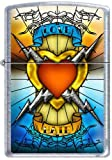Zippo Custom Lighter - Tattoo Love Hate Electric Heart RARE!