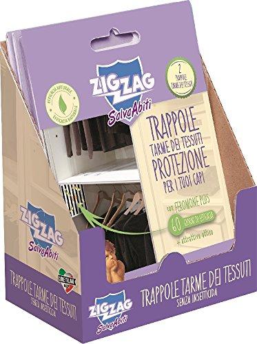 Zig Zag, Il Salva Abiti, Trappola adesiva preincollata con feromoni per attrarre le tarme dei...