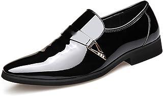 Dingziyue - Scarpe da uomo in pelle, in microfibra, da uomo, da sposa, scarpe da uomo (colore : nero, Taglia : 42)