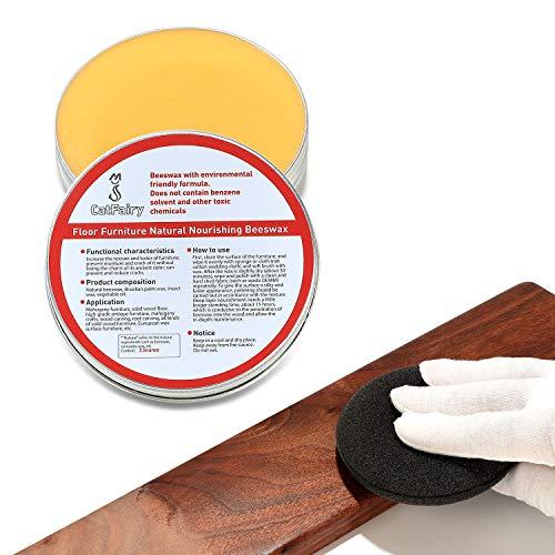 CATFAIRY Wood Seasoning Beewax, Floor Furniture Polish, Wood Cleaner Protective Agent, Furniture Preservative, Chalk Paint Wax, Wood Polish, For Wood & Furniture Polish, Restore Wood Surfaces (3.5oz)
