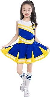 Happy childhood Little Girls' 2 Piece High School Cheerleading Uniform Costume Complete Outfit Cosplay Fancy Dress