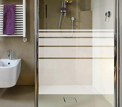 Wandora G092 Sichtschutzfolie für die Dusche satiniert Silber (fein) (BxH) 80 x 50 cm