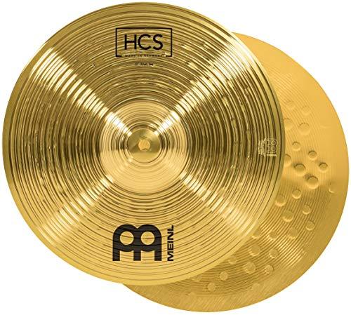 Meinl Cymbals HCS 13 Zoll Hihat Becken für Schlagzeug – Paar – Messing, traditionelles Finish (HCS13H)