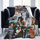 Damon-Salvatore Ian-Somerhalder Blanket Super Soft Fleece Throw Blankets All Seasons for Bed Couch Sofa Kids 50X40 Inch