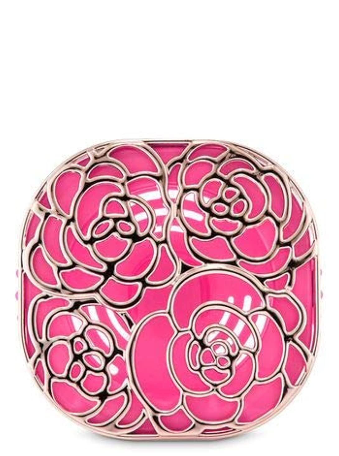 ソファー設計より平らな【Bath&Body Works/バス&ボディワークス】 車用芳香剤 セントポータブル ホルダー (本体ケースのみ) ローズ Scentportable Holder Rose Vent Clip [並行輸入品]