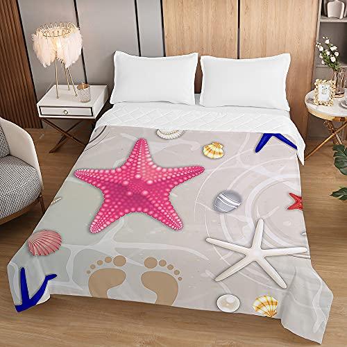 Oduo Tagesdecke Steppdecke Bettüberwurf Bettdecke Stepp Decke Sofaüberwurf Doppelbett Unterfüttert und Gesteppt Waschbare Klimaanlage Wohndecke Reisedecke (Graue Schale,220x240cm)