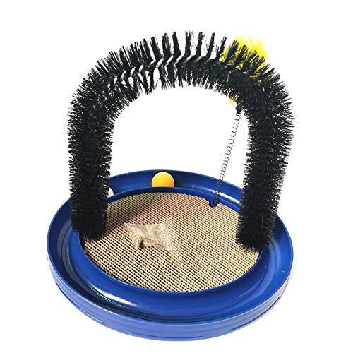 Katzenspielzeug und Enthaarungsbogen Spielzeug und Kratzteppich für Katzen Massagebogen mit Spielzeug Mäuschen ür die Massage und Selbst-Pflege von Katzen und Kätzchen, süßes, luxuriöses Spielzeug mit