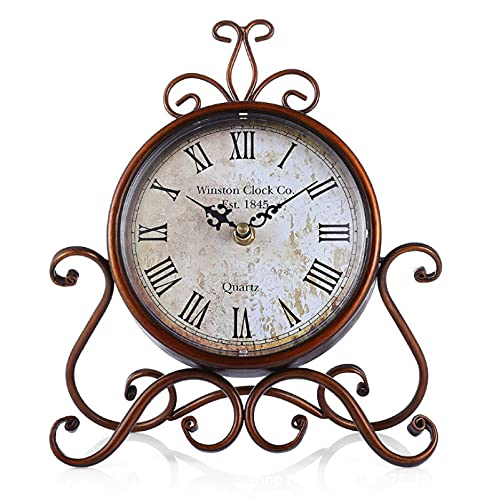 Reloj Retro De Hierro Europeo Decoración De La Sala De Estar Reloj Creativo Reloj De Mesa De Cuarzo Reloj Colgante Reloj