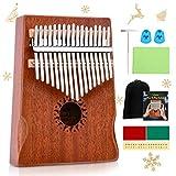 TOOGOO Kalimba de 17 teclas Piano de pulgar Piano de dedo solido Cuerpo de caoba DKL-17