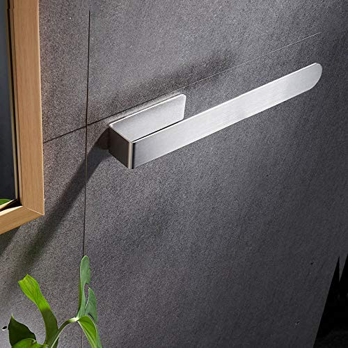 Bad Selbstklebender Handtuchhalter - Ohne Bohren 37 cm Handtuchhalter Einzelhandtuchhalter für Bad Edelstahl Badetuchhalter Silber