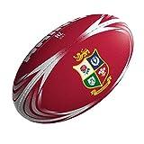 British & Irlandais Lions 2017 Officiel Supporteurs Ballon Rugby - Rouge, MINI (size 1)