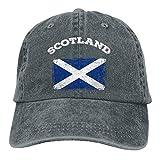 Gorra de béisbol para hombre y mujer con diseño de camionero de mezclilla Snapback bandera de Escocia ajustable de...