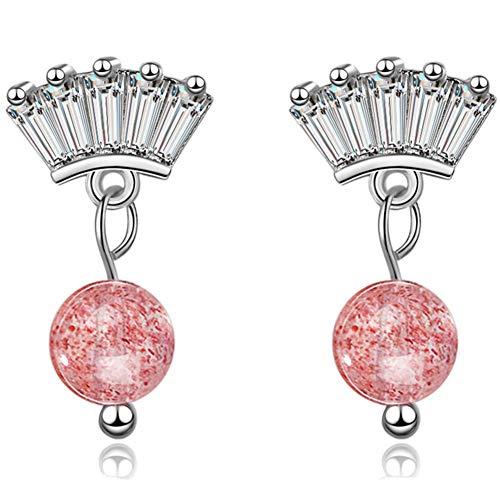 Xinllm Pendientes de la joyería Pendientes de Diamantes Suerte Pendientes Pendientes Atractivo Pendientes De Hadas Pendientes de Estilo Traviesas Pendientes