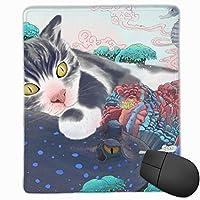 マウスパッド ゲーミング オフィス最適 おもしろ 海の下 猫 高級感 おしゃれ 防水 耐久性が良い 滑り止めゴム底 ゲーミングなど適用 マウスの精密度を上がる( 25*30*0.3cm )