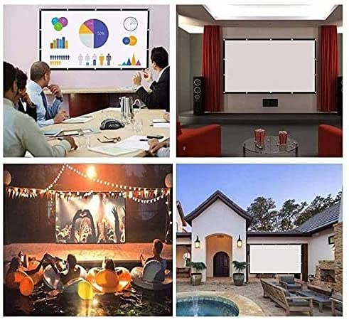 HGSDKECFS Portable Projection screenProjector Simple Curtain Folding Soft HD Projector Screen 84/100/120/150 Inch 3D Projection Movies Screen for Office Home Theater