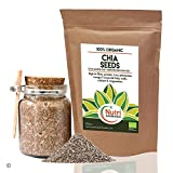 Raw and Organic Chia Seeds - Vegan Plant Protein for Endurance - Improves