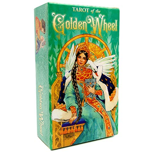 Wrubxvcd 78 Cartes Deck Tarot, Game Family Party Oracle, Tarot of The Golden Wheel Board