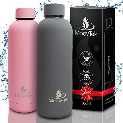 Gourde inox bouteille d'eau écologique isotherme 500ml double paroi en acier inoxydable 304 - pour thé, café, boissons froides – Cadeau Homme Femme – Pour sport, travail, randonnées.