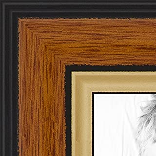 ArtToFrames 8x32 inch Medium Tri-colored Frame Picture Frame, 2WOM0066-83120-YHNY-8x32